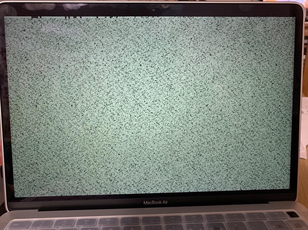 MacBook AirのソフトウェアをBig Sur 11.2.2にアップデートしました。 するとその直後からシステム終了ボタンを押した後このように緑の画面が表示されるようになりました。 何度再...