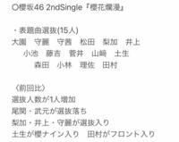 櫻坂46の2ndシングル、公式のフォーメーションも曲のタイトルも発表されましたが、僕はフォーメーションと曲名をこんな風に予想していました! 感想や評価頂けたら嬉しいです。  櫻坂46 BAN Wセンター 小林由依 渡...