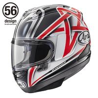 オートバイレーサーの中野真矢選手のレプリカヘルメットが、アライRX-7X Nakanoとして販売されていますが、 この目玉に赤い星形が付いたヘルメットは、中野選手がどの時代に被っていたものでしょうか?