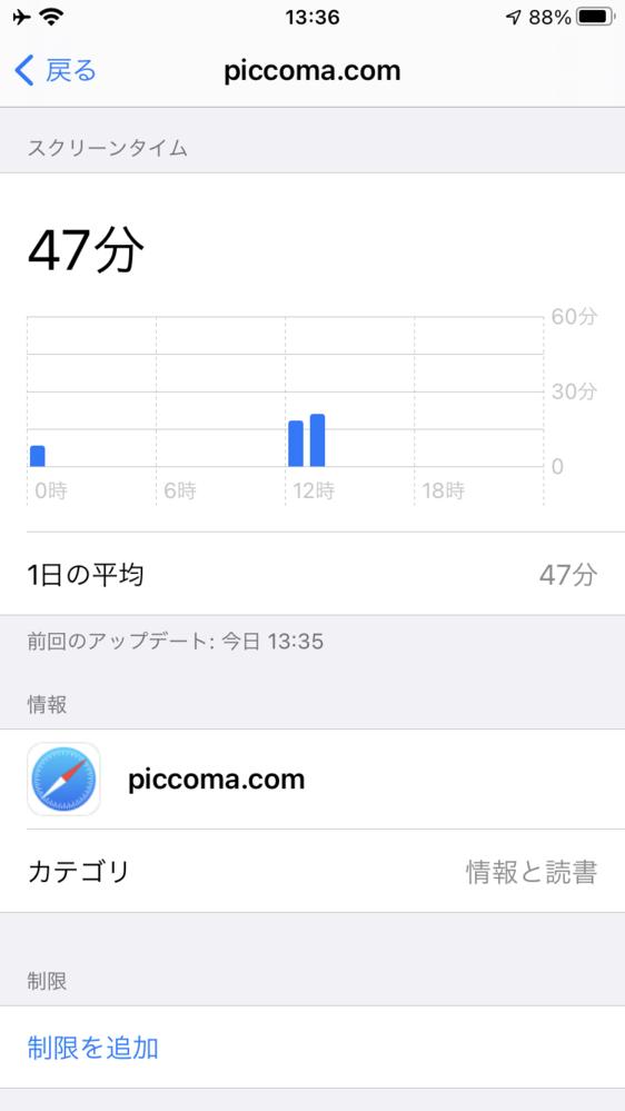 iPhoneのスクリーンタイムで、ピッコマを読んでた時間にSafariも同時に使っていることになっているのですが、 なぜ勝手にSafariの時間が増えるのですか?僕はネットサーフィンはしていま...