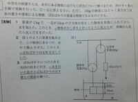 下線部bのときの浮力を求めよ。 という問題なのですが、これは静止しているので重力=浮力と考えてもいいでしょうか? また、浮力の求め方を教えてください。