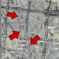 この地図記号は何ですか? 画像の矢印が示している「.........」←点線?の意味を教えてください。