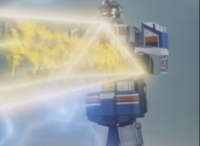 『スーパーターボロボが両腕と胴体で形成したトライアングルのオーラから放つスーパーミラージュビーム』 数あるアニメや特撮作品に登場する「巨大ロボットが放つビームや光線」で、あなたが好きなものは何ですか?