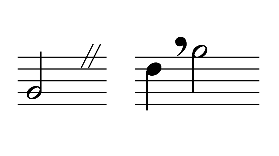 この記号(画像左側) 自分の周りでは「スリット」などと呼んでいましたが、「カエスーラ」という名称なのを最近知りました。 これって常識でしょうか(;^ω^)