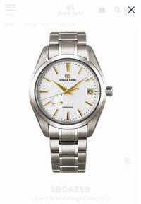 グランドセイコー SBGA259について 腕時計に詳しい方教えて下さい グランドセイコーのSBGA259というモデルなんですが インデックスや針の部分がゴールドになっていますが、これはK18なんでしょうか?金メッキなんでしょうか? ネットで調べようとしたけどよくわからなかったので、宜しくお願いします