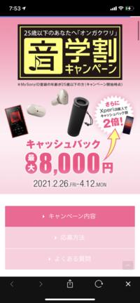 SONYのキャッシュバックキャンペーンですが、Amazonなどで購入して応募はできますか?