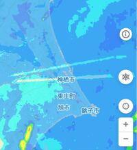 雨雲レーダーに写っていたこの線はなんですか? わかる人がいれば教えてください