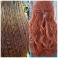 髪色についての質問です 画像のような髪色ではブリーチをしないとこのピンク色の髪に染めることはできないですか? カラーバターで少しでも色を近づけるとしたら何色と何色を混ぜればいいと思いますか?ブリーチなしで染めるとしてカラーバターでしたら何色が入りますか?特に青、紫、ピンク系の色らへんを入れたいです。質問が多くて申し訳ないです。回答お待ちしております!よろしくお願いします