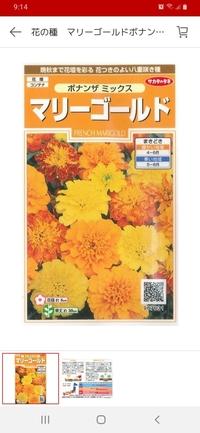 サカタのタネの マリーゴールド ボナンザミックス No907631 (添付写真) は、食用に適していますか?  無農薬で育てようと思っています。
