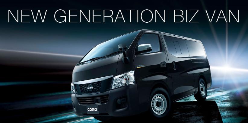 ISUZUのホームページにある、ワンボックスの「COMO」は日産のキャラバンですか? それとも、ISUZU独自の車ですか?
