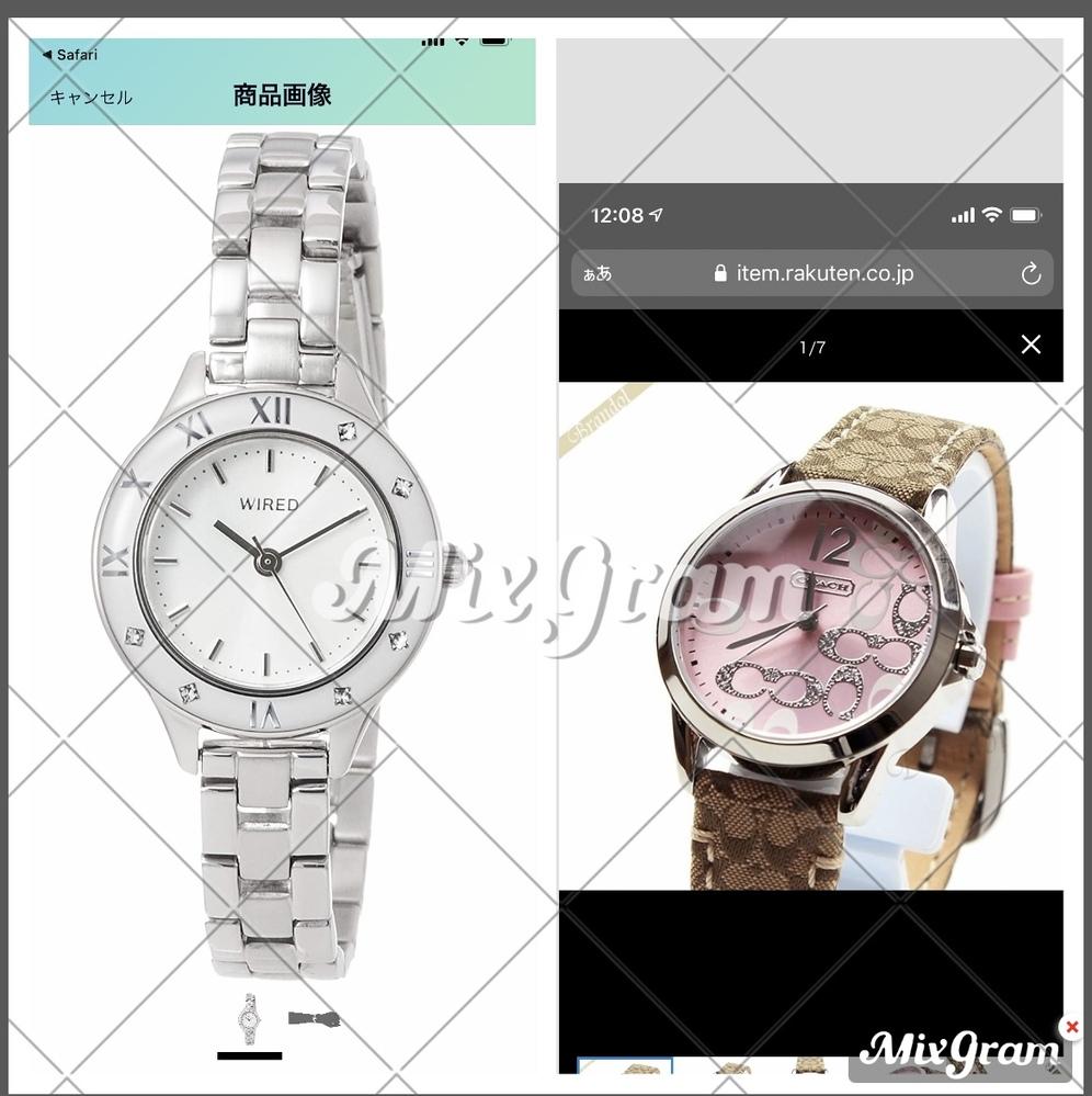 彼女の就職祝いで時計を買おうと思っているのですが、このコーチの時計とセイコーの時計で迷っています。どちらが可愛いと思いますか? 仕事でスーツを着る機会もあるので、スーツでも私服でもつけれる時計が...