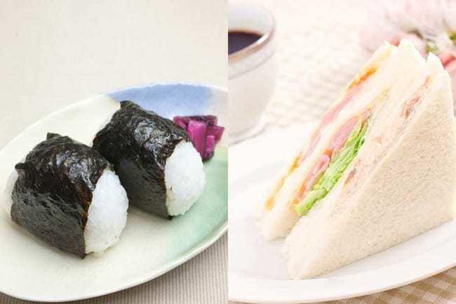 ランチで食べるなら、おにぎりとサンドイッチ、どちらがいいですか?