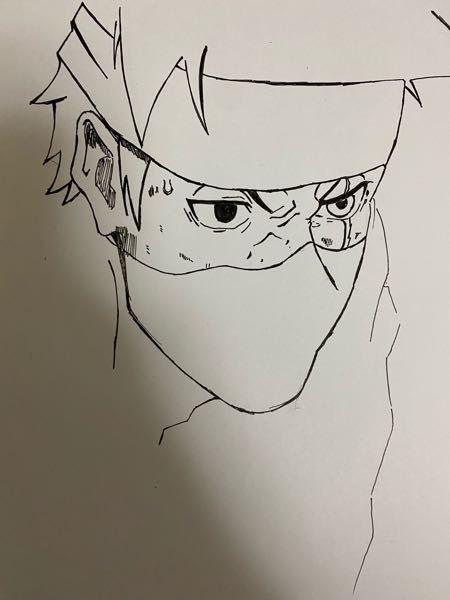 ペンで初めて絵を書いたのですが 髪とマスクをどのように塗れば良いかわかりません アドバイスください