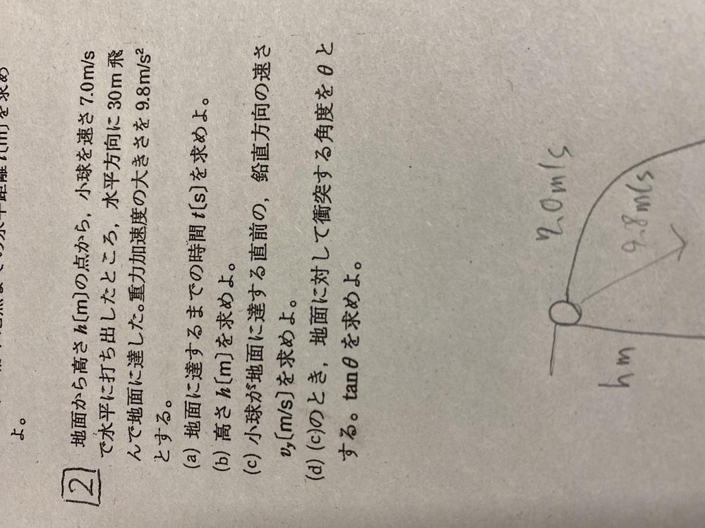 【物理】写真の問題の答えを教えてください!
