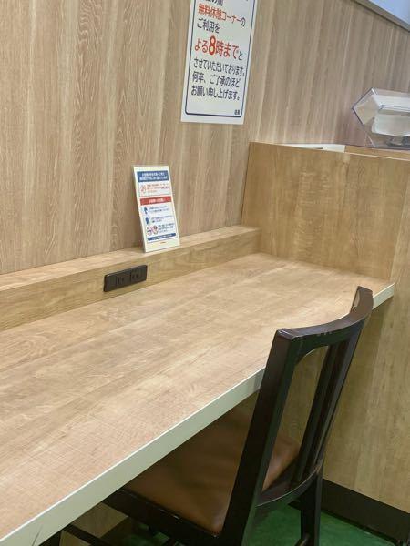 どうしてこういうイートインとかカフェみたいな壁につけられた低い長いテーブルと質素な椅子は落ち着くのでしょう? 画像はバイト先近くのスーパーのイートインコーナーです。最近見つけましたがよく時間つぶ...