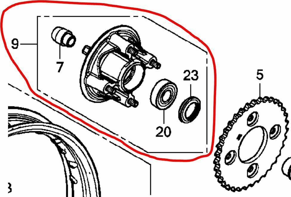 スーパーカブ110(JA10)のリアスプロケットが付く添付画像9番の部品番号 わかる方、教えて下さい。 JA10は旧機種なのでホンダサイトで調べられません。 部品流用で使いたい為、JA10を所有しているわけではないのですがよろしくお願い致します。