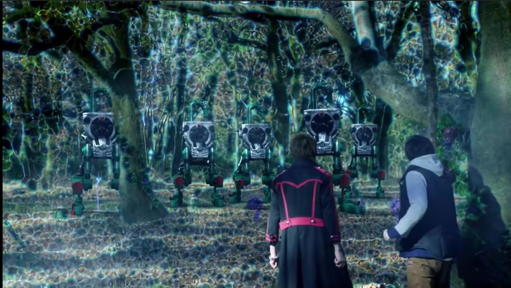 『ヘルヘイムの森からユグドラシルに通じるクラック付近で紘汰と戒斗を待ち構えていた、2足歩行型のチューリップロックビークルの集団』 数あるアニメや特撮作品の中で「敵の拠点や不思議な力が宿る場所を守る門番、または警備を行う存在」と聞き、あなたは何を思い浮かべましたか?