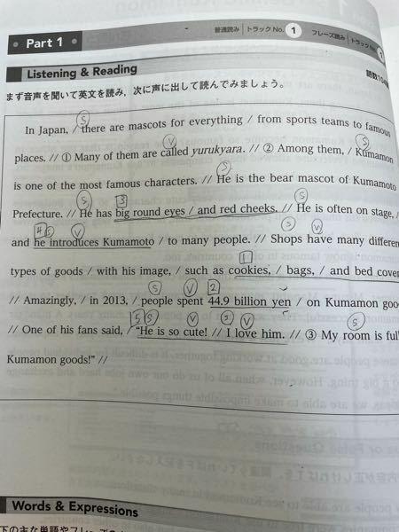 この宿題で主語S動詞Vにマークしてるんですが見落としてるとこありますか?教えてください!あ、数字のマークは気にしないでください