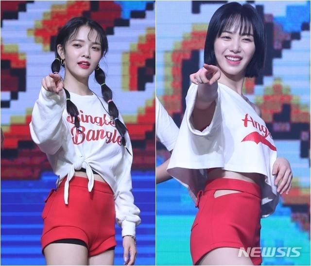 韓国グループ元AOAのクォン・ミナ(權珉娥)は浜辺美波に似てませんか? ※右の人です。