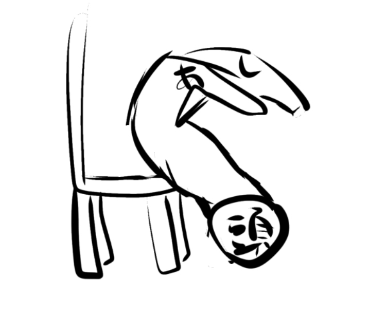 めちゃくちゃわかりにくくて申し訳ないんですけどこのポーズはなんと打てば調べられますか? 椅子にお腹を乗せて地面に顔をつけてえびぞりするみたいなポーズです