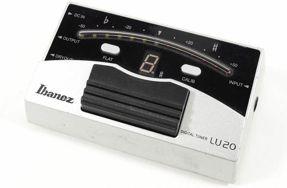 Ibanez DIGITAL TUNER LU20 を中古で買ったんですけど、説明書が着いてなかったためFLATとCALIBのボタンの使い方が分かりません。 (押したら数字や棒が出てくるやつが何を表しているのかなど) なんとなくの予想はできるのですが、教えて頂けたら幸いです