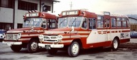 田舎~のバスはオンボロ車~~ タイヤはつぎだらけ、窓は閉まらない~・・(中略)、 デコボコ道をガタゴト走る・・などと歌われた昔のバス、 昭和30年、中村メイコさんの歌でした。 確かに・・デコボコ道だっ...