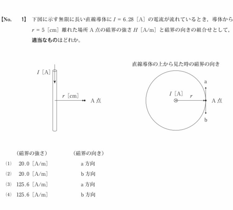 2級電気通信工事施工管理技士の過去問なんですが答えは(2)なんですが磁界の向きが何故b方向になるのか分かりません。 フレミングの左手の法則を使うんでしょうか?でも、左手をどの様な方向にすれば良いのかも分かりません。詳しく解説お願いします。