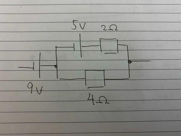 写真のような回路の時、各抵抗を流れる電流はどのように求めるのでしょうか?