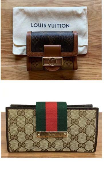 どっちが素敵ですか? お財布の買い直しを色々悩んでいます。 持ってて「オシャレやな!」と思う方が知りたいです。 ヴィトンの方が長持ちですか?