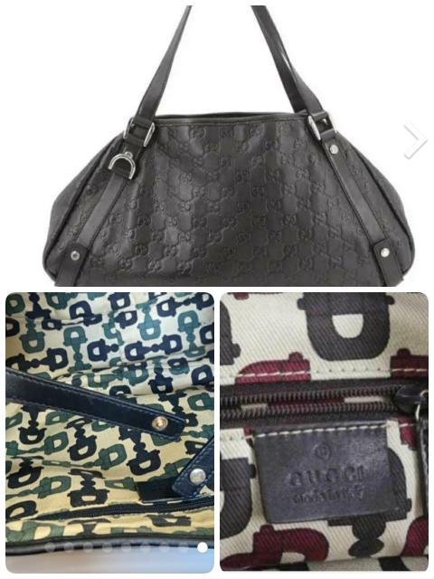 GUCCI(グッチ)のバッグについて質問です。1枚目の形のバッグでブラックの場合、内側の生地は全てのバックが左下の色味でしょうか?右下の色味のこともありますでしようか。この形だと右下の色味はブラウンしかあり得 ないでしようか。よろしくお願いいたします。