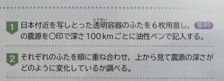 中1の理科の教科書の大地の変動について 『の震源』とはなんですか? 誤植ですか?