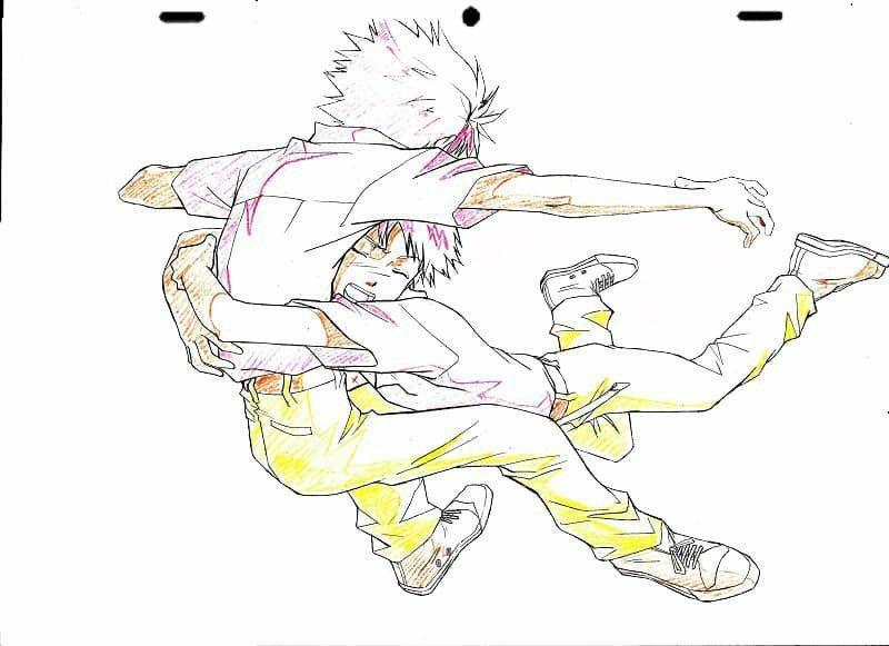 エヴァンゲリオンの原画?についての質問です。碇シンジが渚カヲルに画像のように抱きついているシーンは公式にありましたでしょうか? 原画集にのっているなら、教えてほしいです。