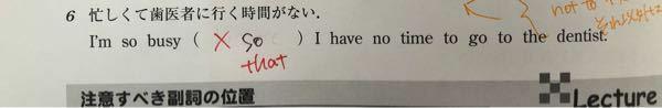 英語文法の問題です。 ここは何故 so ではなくthat なのか教えて下さい。