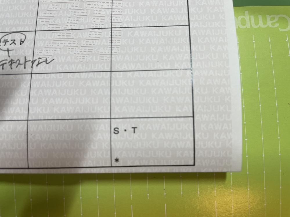 河合塾受験科生(浪人生)です。 時間割の右下にある、このS・Tとはなんですか? 授業だったりしますか?うっかり見落として、欠席してしまったのですが、、 まずいですか?