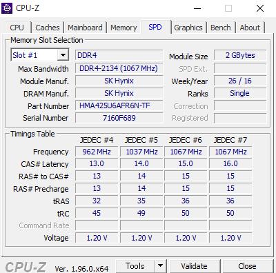 CPU-Zでデスクトップパソコンのメモリを調べたところ DDR4-2134(1067MHz)と表示されました。 しかし、この型番を調べても見つかりません。 適合するメモリの型番を教えてください。 ちなみに、8Gx2を購入予定です。