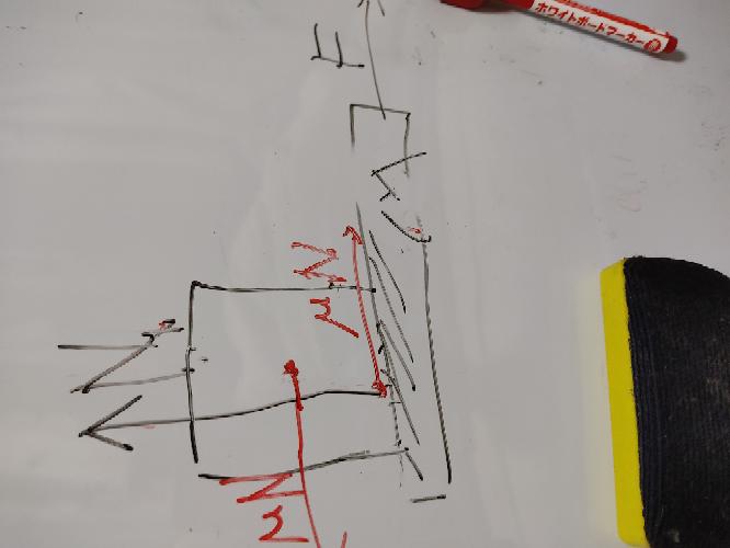 写真についてなのですが、赤色の部分が作用反作用でつりあっているのになぜ板の運動方程式がMa=F−μNとなるのでしょうか?