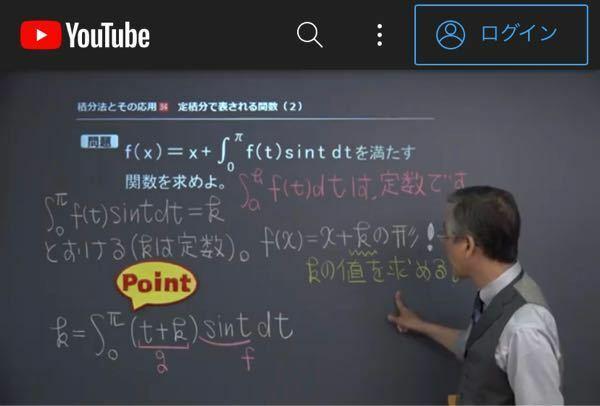 どうして、f(x)がx+kの形になれば、f(t)=x+kと出来るんですか?