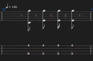 ベースのtab譜なんですがここってどういう風に弾けばいいんでしょうか?