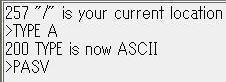 FFFTPでサーバー側ファイルが表示されません。 次のQ&Aの続きです。回答に従って今試しても同じです。 https://detail.chiebukuro.yahoo.co.jp/qa/question_detail/q14241857339 前回添付の下部表示だけを添付します。解決方法をお願いします。 なお、添付洩れに気づかず、回答ごと取り消し失礼しました。