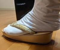 訪問着に履く草履ですが、サイズ小さいですか?