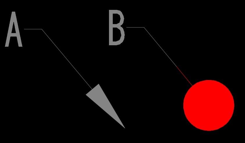 AutoCAD マルチ引出線の色をレウアウトで変えたい 画層管理で「赤」と設定している引き出し線を このビューポートでだけグレーにしたいので 画層管理の「VPの色」をグレーに設定しました。 矢印のスタイルが「塗り潰し矢印」だと「グレー(A)」になりますが 他の矢印スタイルだと矢印だけ「赤(B)」のままです。 原因、直し方教えて下さい。 よろしくお願いいたします(AutoCAD2016です)。