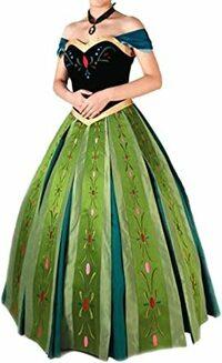 ディズニーランドのハロウィンで、 仮装をする時に肩紐無しの衣装は禁止とありますがそれはティンカーベルとかチューブトップの衣装だけですか? ベルや画像のアナのドレスのようなオフショルダーのドレスも肩紐を付けなきゃいけないですか?