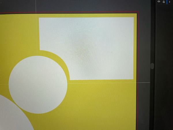 Illustratorで、画像のようなかんじで、長方形の1つの角を円形に沿うようにしたいんですけど、どのようにしたらいいのでしょうか... これはペンツールで引いてるので線が均等じゃないです...