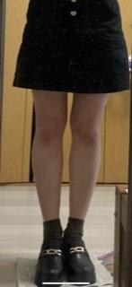 この足の太さで台形スカートはまずいですか?足の太さの感想を教えていただきたいです