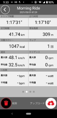河川敷の往復40㎞を平均時速32.5㎞/hだったら素人にしては頑張った方ですよね?