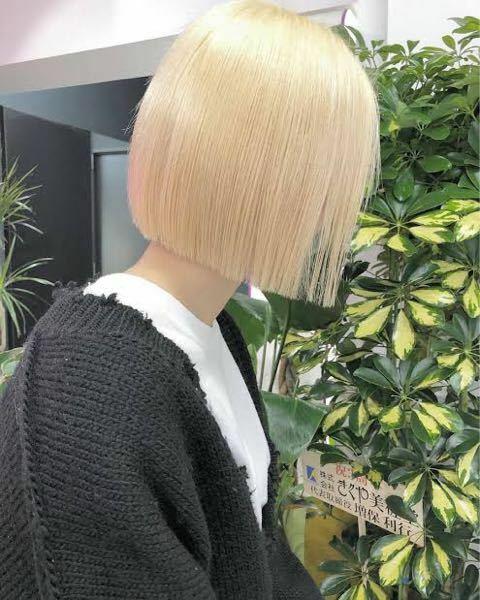 黒髪からこのような金髪にするのにはどうメニューを頼めばいいのですか?