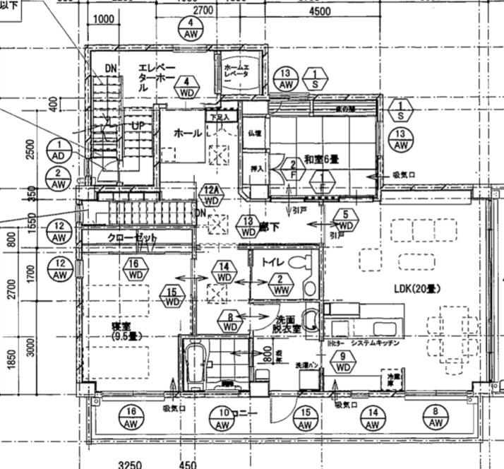 この建物は、鉄筋コンクリート造のラーメンと壁式の混構造でしょうか? 諸事情で、一部のみ貼り付けさせていただきました。 宜しくお願い致します。