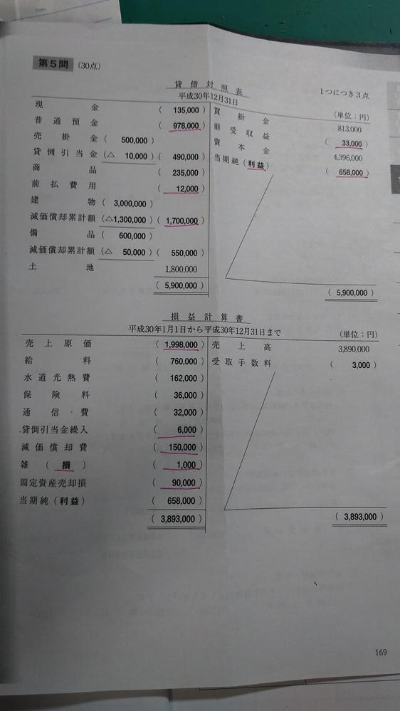 解答の当期純(?)の? が(利益)なのは、損益計算書内で費用より収益が多いから(利益)で、貸借対照表は清算表の考え方で、費用に(利益)がついたからその逆の方に(利益)がつくということですか?