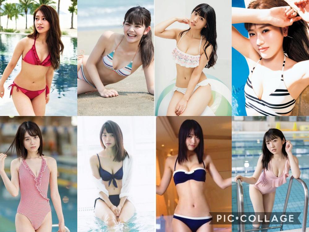 この8人が、写真の水着でグラビアアイドルとして、プールで撮影会をしてくれるとして、誰の枠を選びますか?