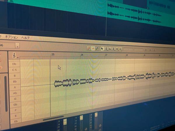DTMの質問です。studio one 5 professionalでmelodyneというのを使いピッチ補正をしようと思ったのですが写真のように音が一つ一つ摘出されません。どうしてでしょうか。...